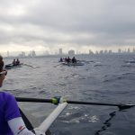 Coastal Rowing along the Tel-Aviv coastal line. Photo by Ofer Paz